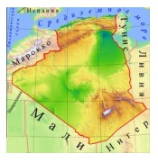 Алжир карта