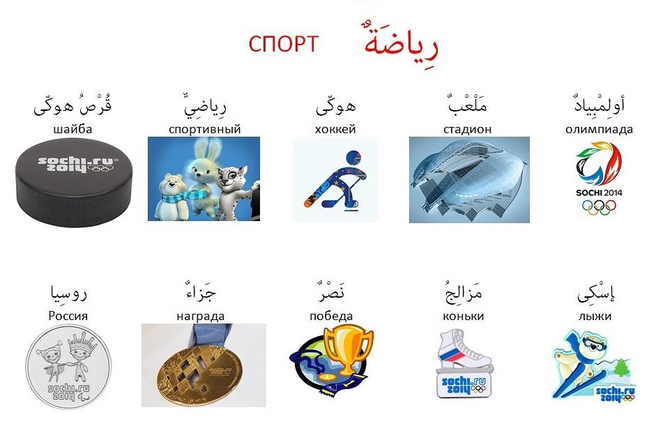 Словарь арабский СПОРТ