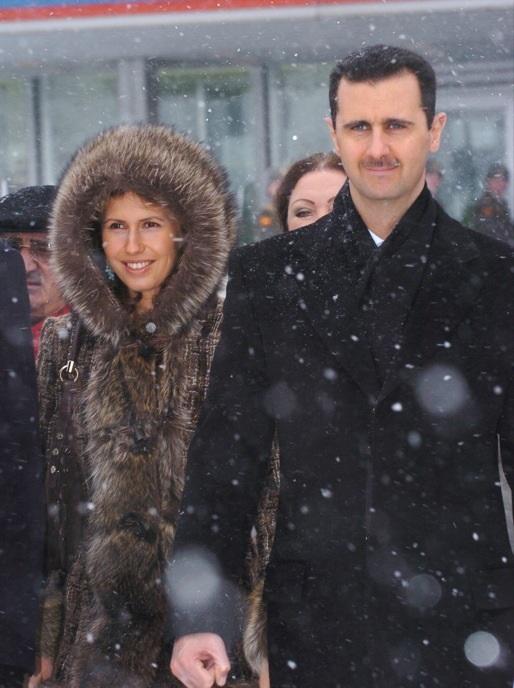 Башар аль-Асад со своей женой в Москве, январь 2005 года
