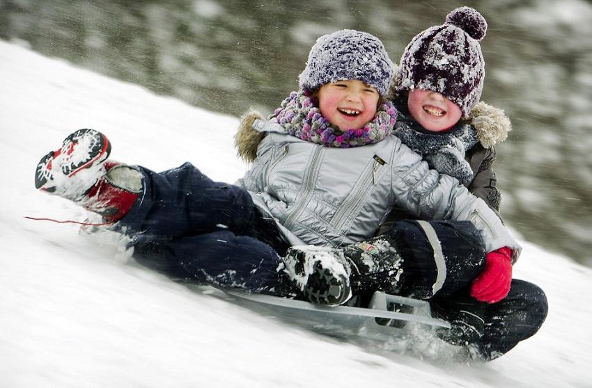 Зима Дети