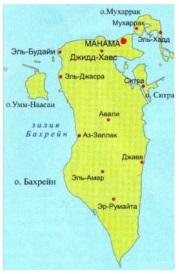 Бахрейн карта